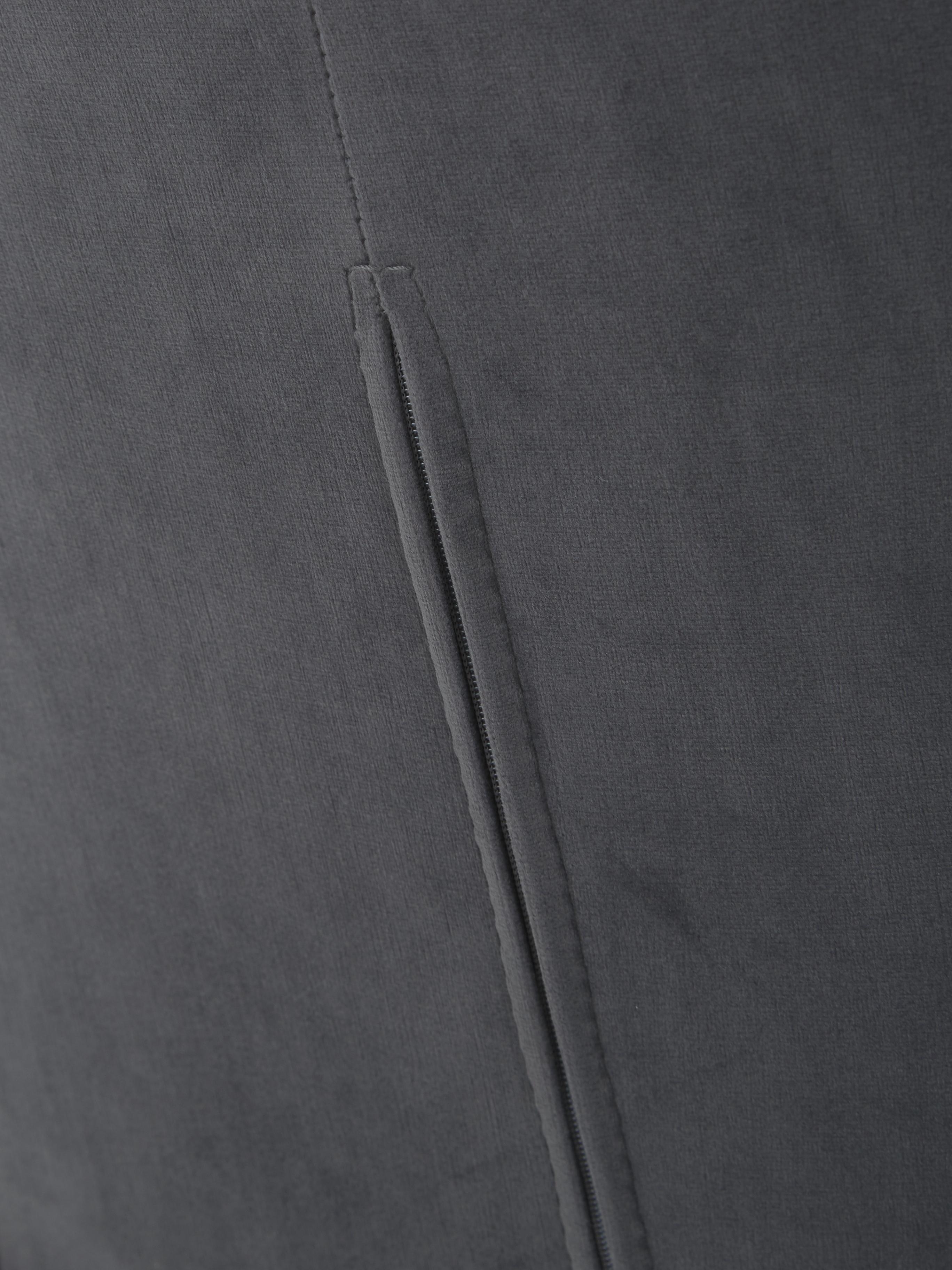 Silla de terciopelo Tess, Tapizado: terciopelo (poliéster) Al, Patas: metal recubierto, Terciopelo gris antracita, An 48 x Al 84 cm