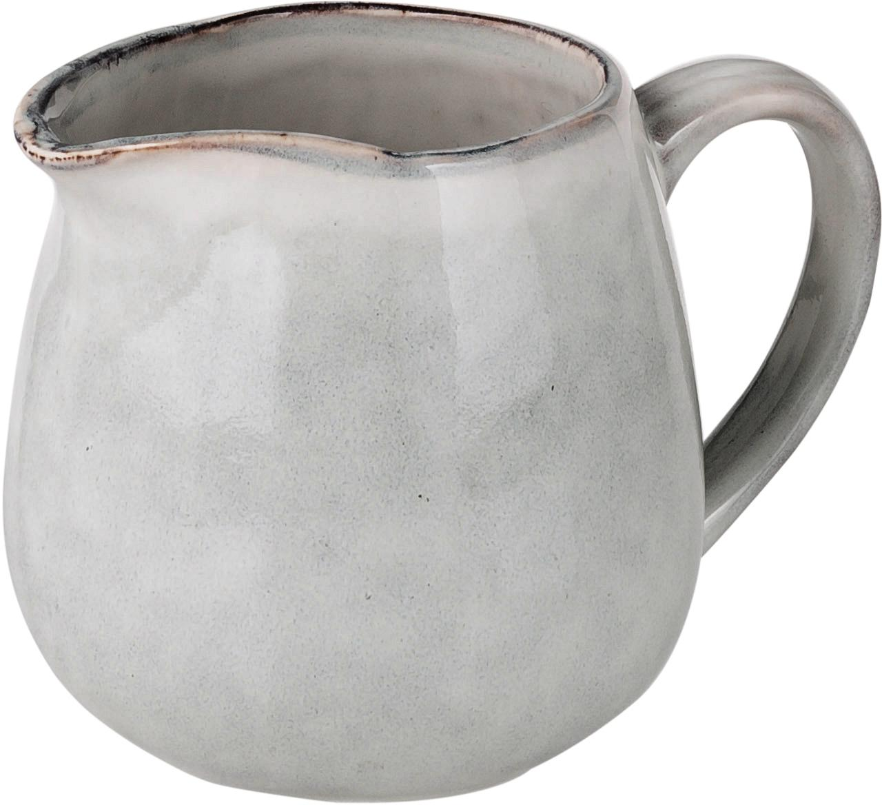 Handgemachtes Milchkännchen Nordic Sand aus Steingut, Steingut, Sand, Ø 12 x H 9 cm