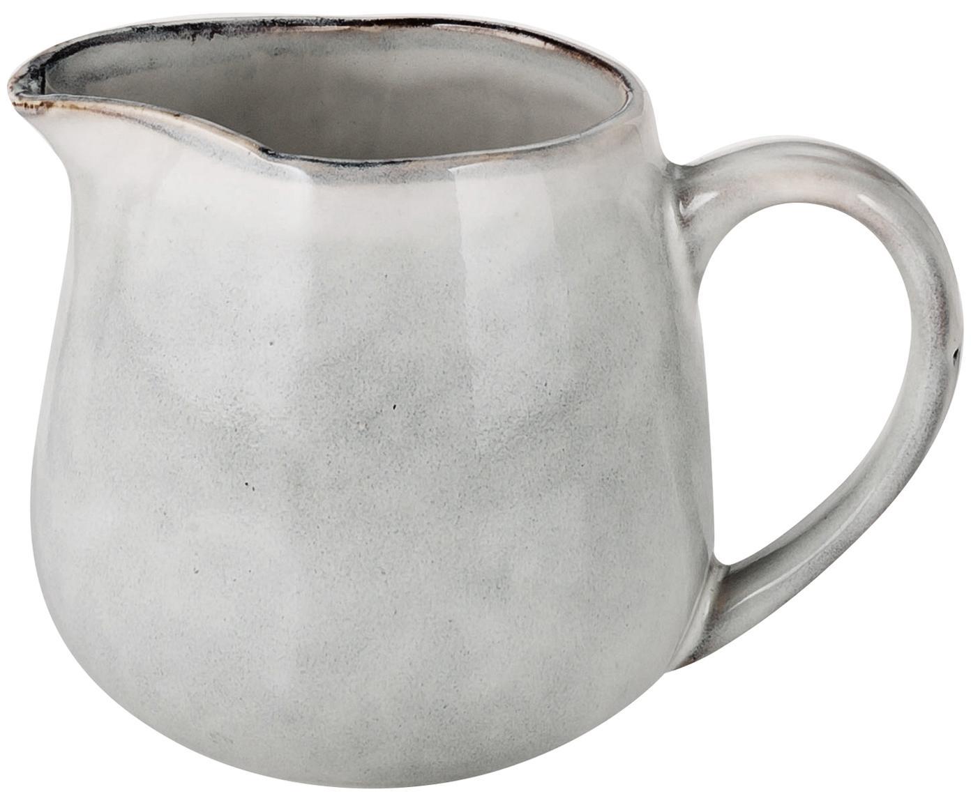 Handgemachtes Milchkännchen Nordic Sand, Steingut, Sand, Ø 12 x H 9 cm