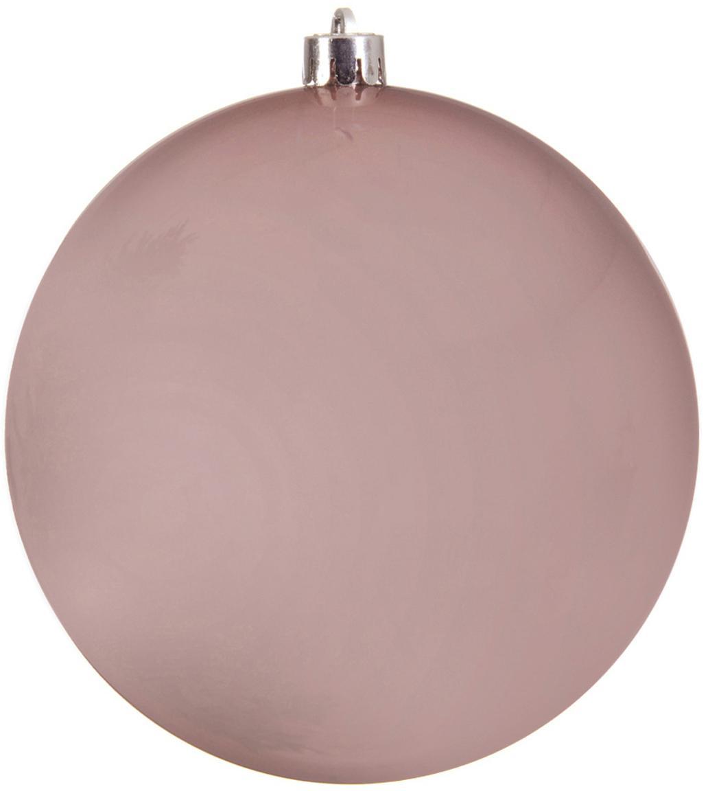 Bolas de Navidad Minstix, Ø8cm, 2uds., Plástico, Rosa, Ø 14 cm