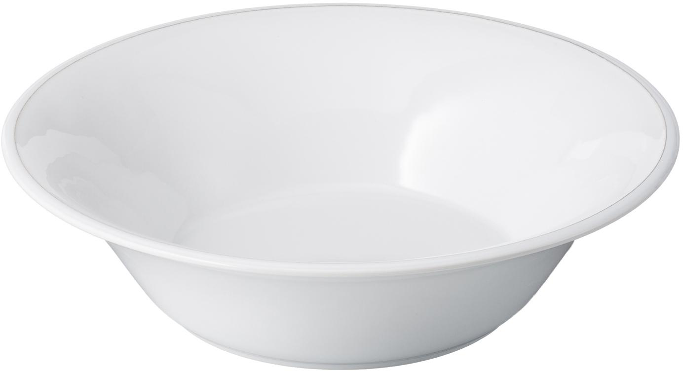 Insalatiera color bianco Constance, Terracotta, Bianco, Ø 30 x Alt. 9 cm