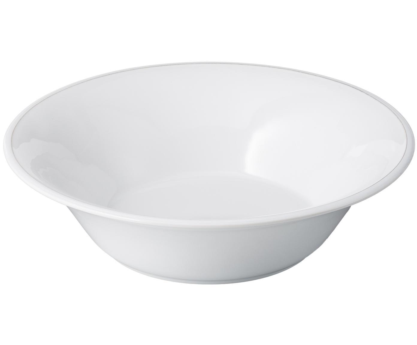 Salatschüssel Constance im Landhaus Style, Steingut, Weiß, Ø 30 x H 9 cm