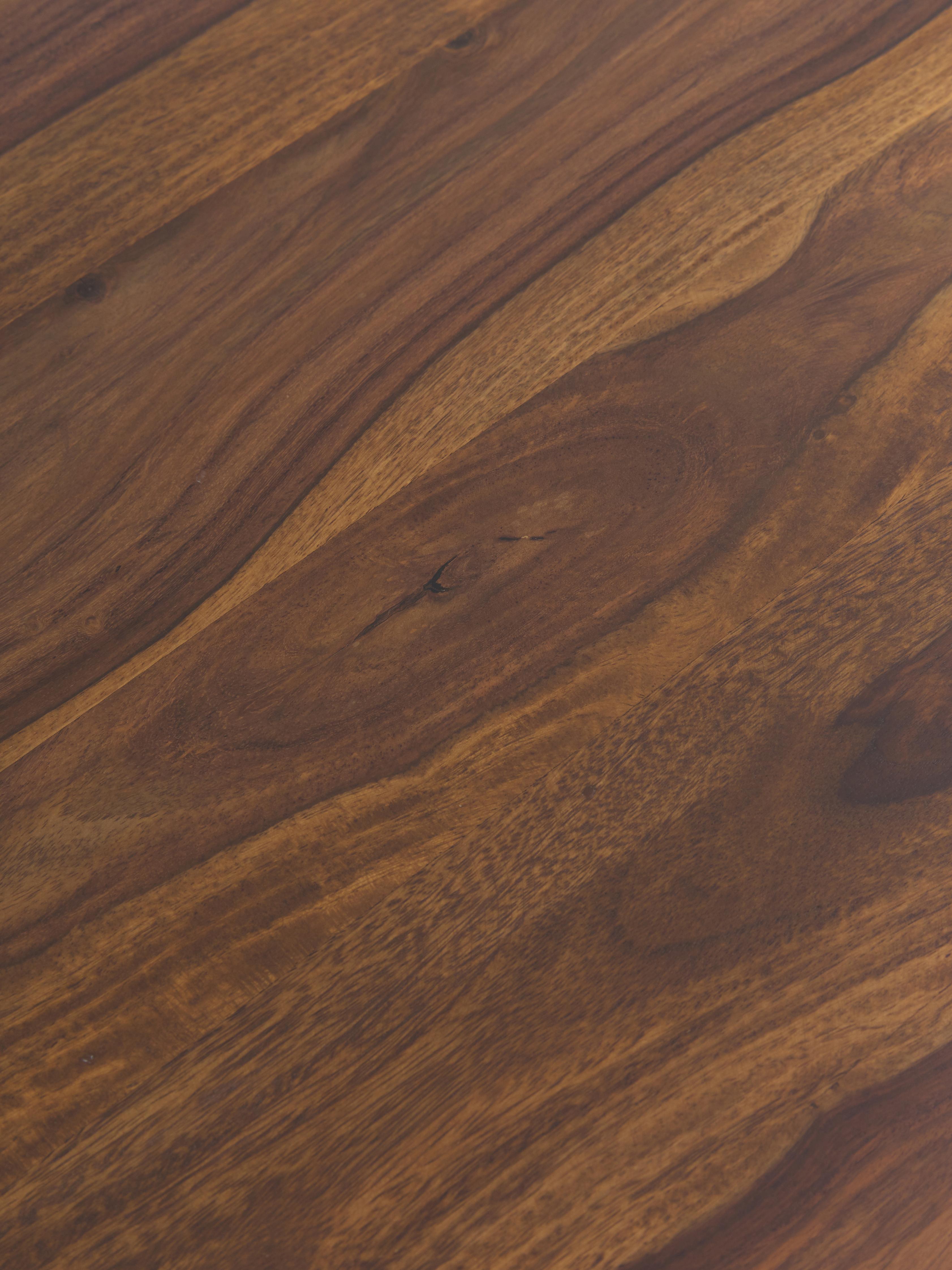 Schreibtisch Repa aus Massivholz, Sheeshamholz, massiv, lackiert, Sheeshamholz, Schwarz, 117 x 75 cm