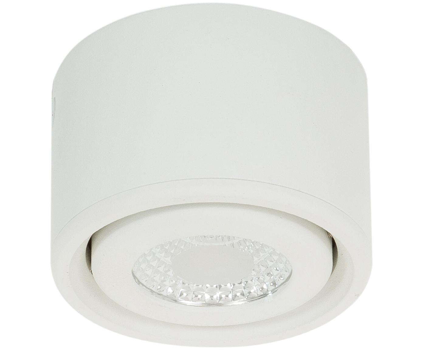 LED plafondspot Anzio in wit, Wit, Ø 8 x H 5 cm