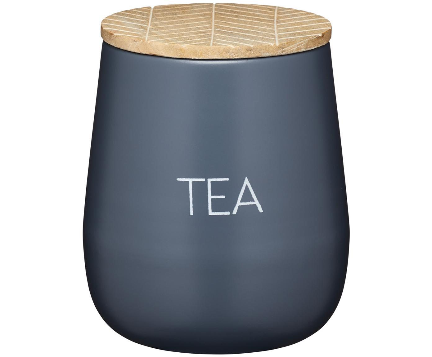 Contenitore Serenity Tea, Acciaio, legno, Antracite, legno, Ø 13 x Alt. 9 cm