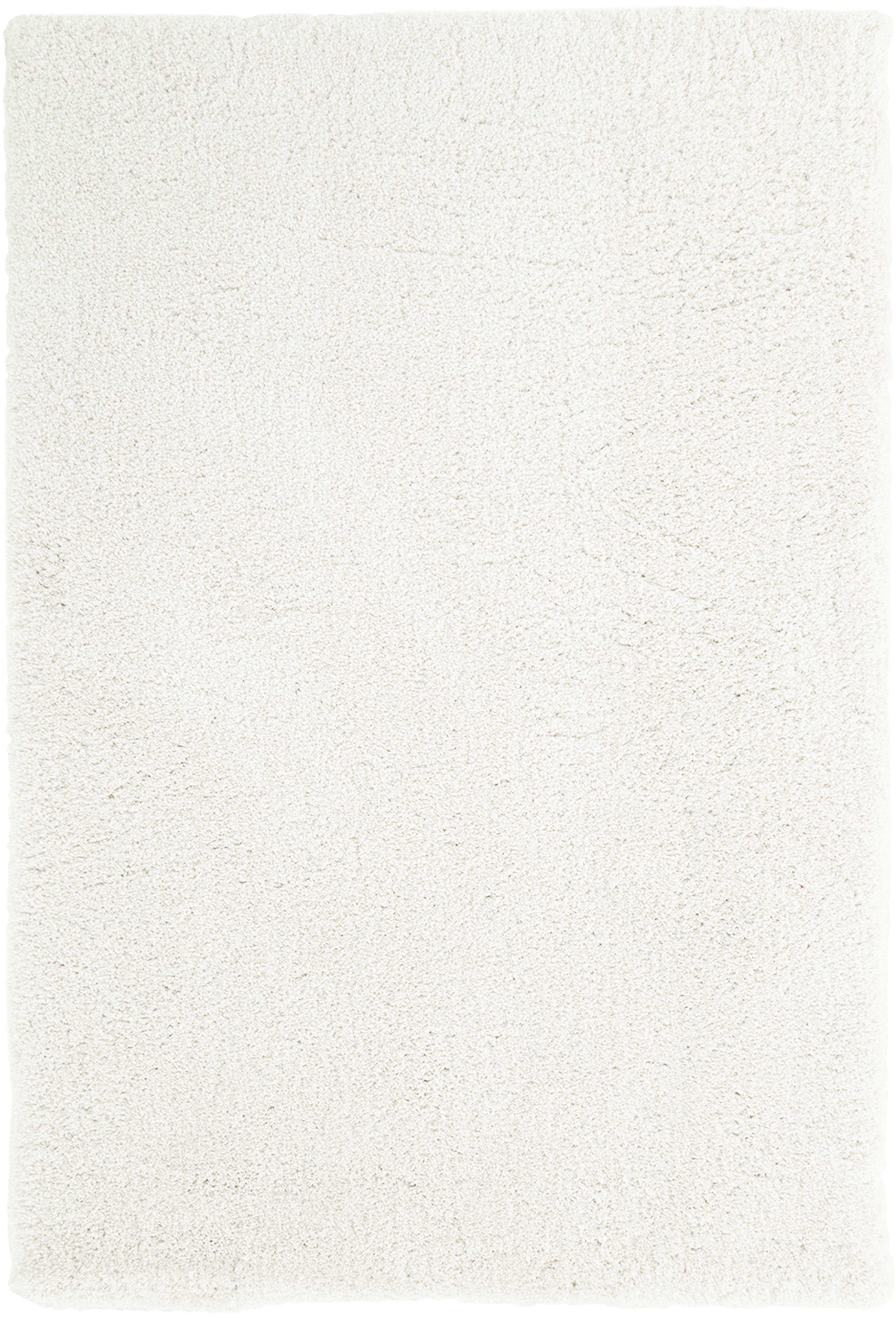 Tappeto peloso morbido color crema Leighton, Retro: 70% poliestere, 30% coton, Crema, Larg. 120 x Lung. 180 cm (taglia S)