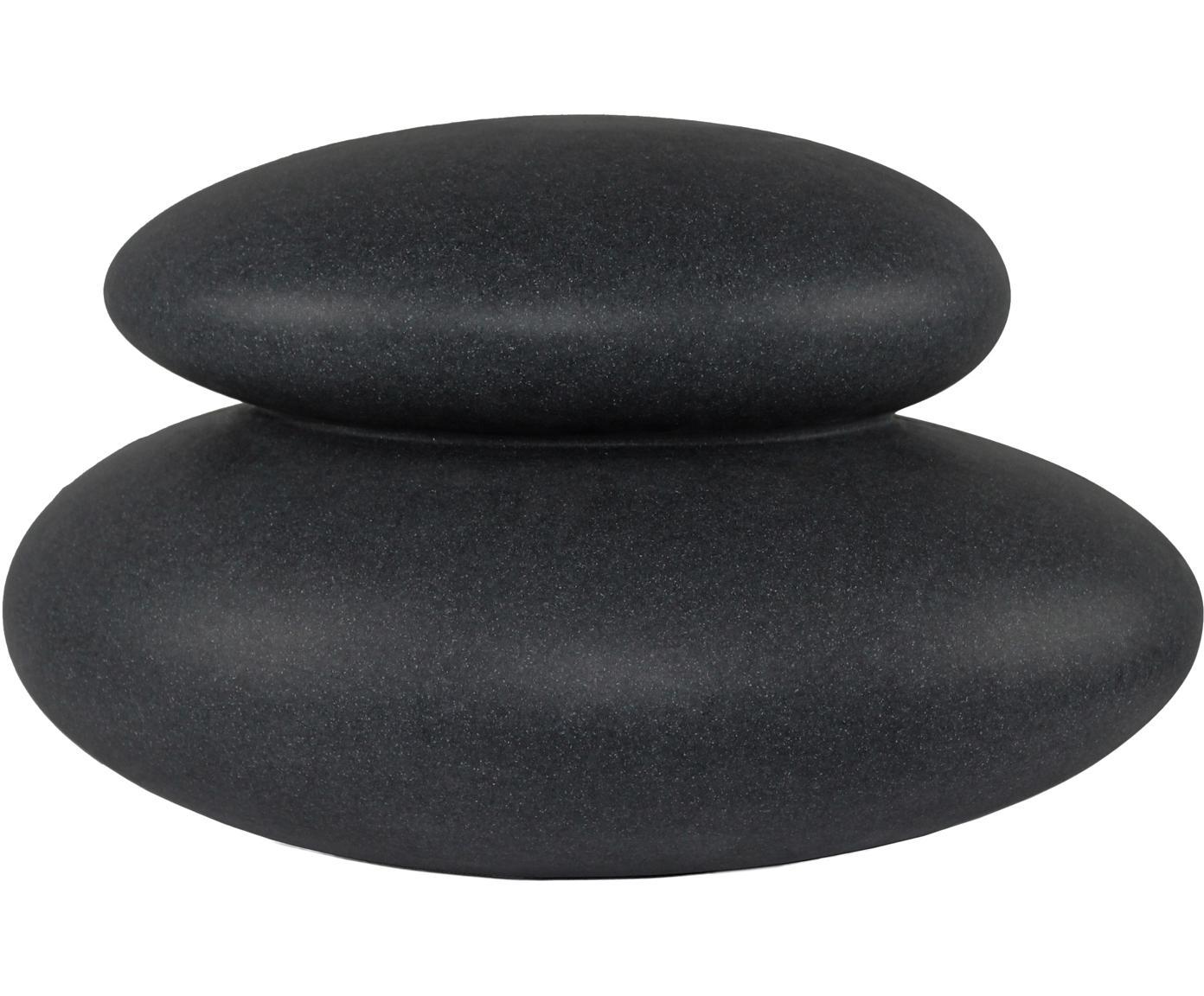 Zewnętrzna mobilna lampa Shining  Stone, Tworzywo sztuczne, Antracytowy, S 39 x W 22 cm