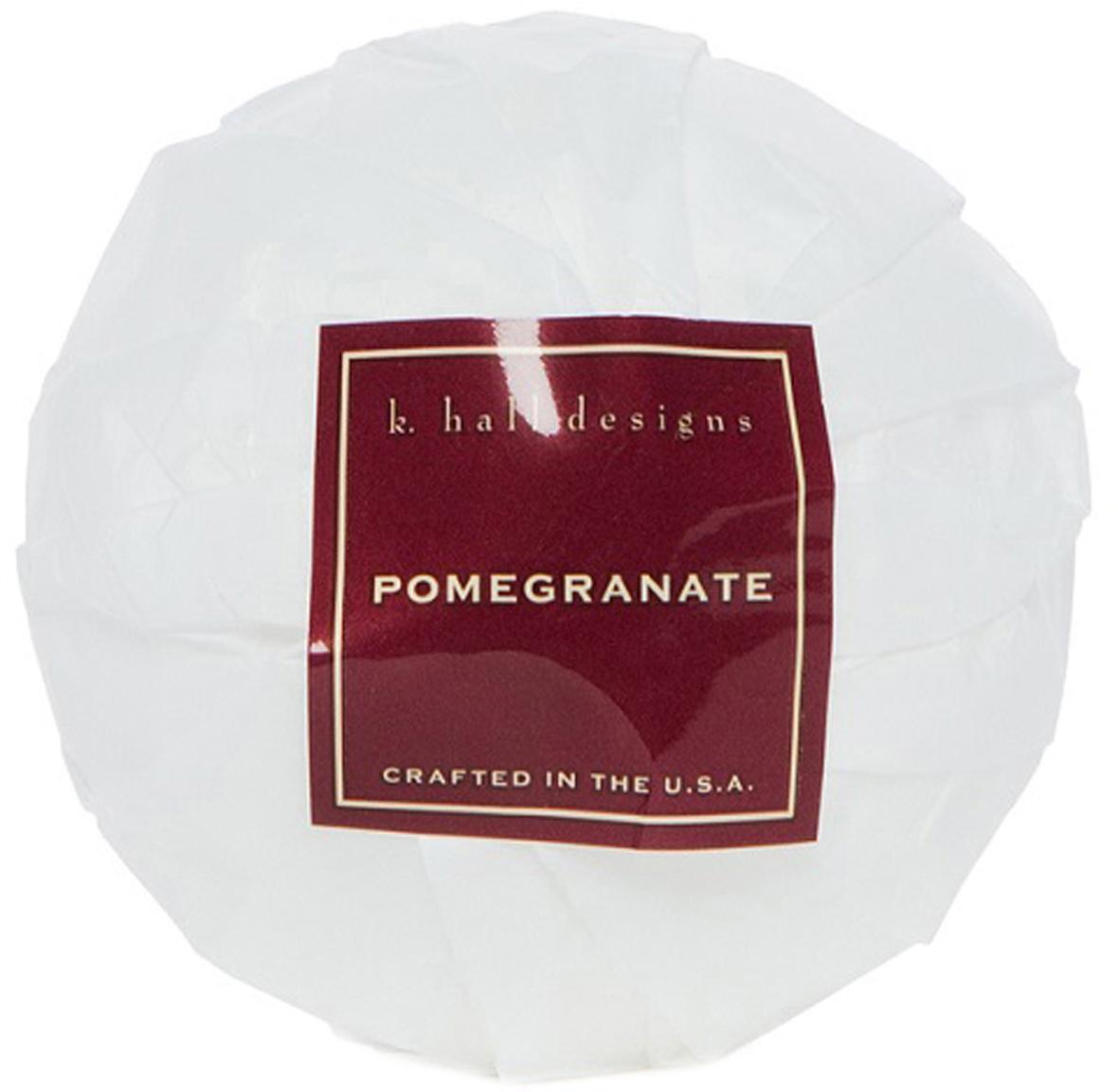 Badekugel Pomegranate (Granatapfel, Apfel & Pflaume), Weiss, Ø 7 x H 7 cm