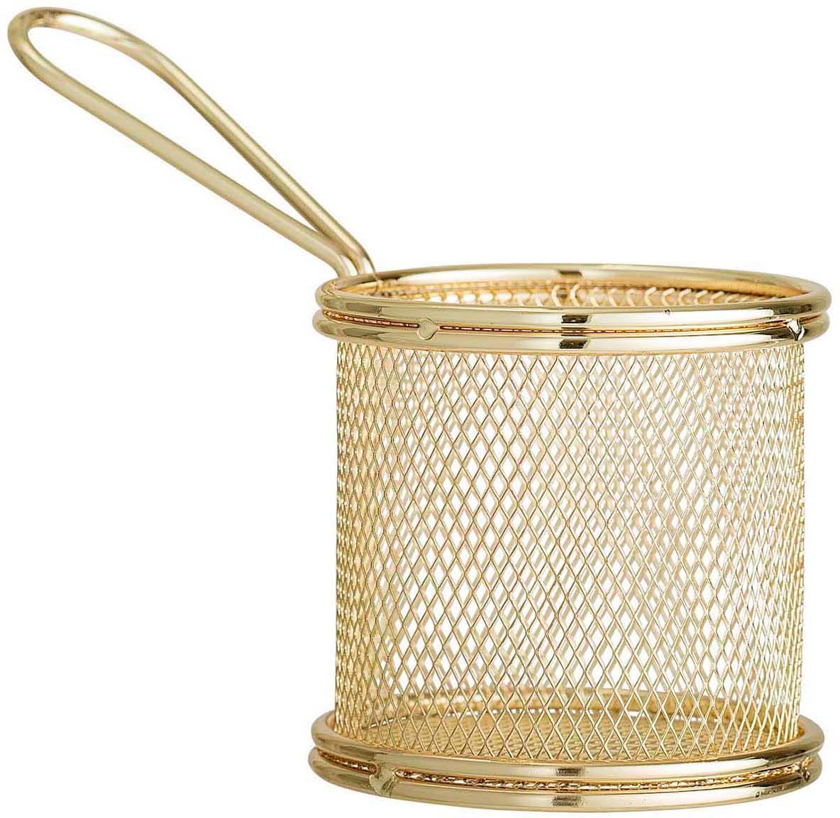 Minifreidora para servir Mingolet, Acero inoxidable, recubierto, Latón, Ø 9 x Al 9 cm