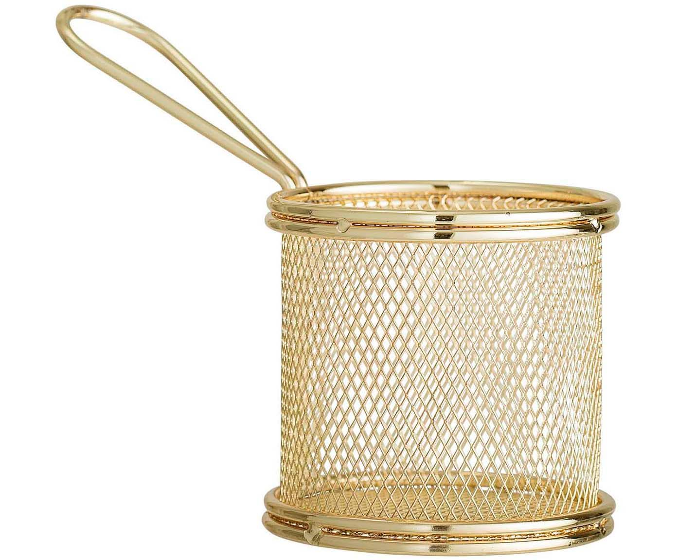 Serveermand Mingolet, Gecoat edelstaal, Messingkleurig, Ø 9 x H 9 cm