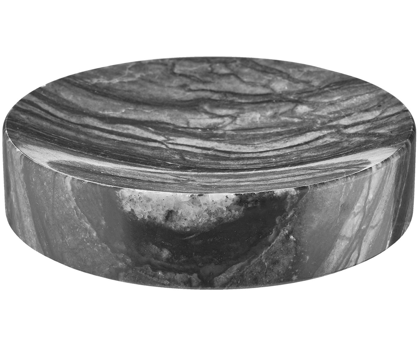Zeepbakje Teren, Marmer, Zwart, Ø 11 x H 3 cm