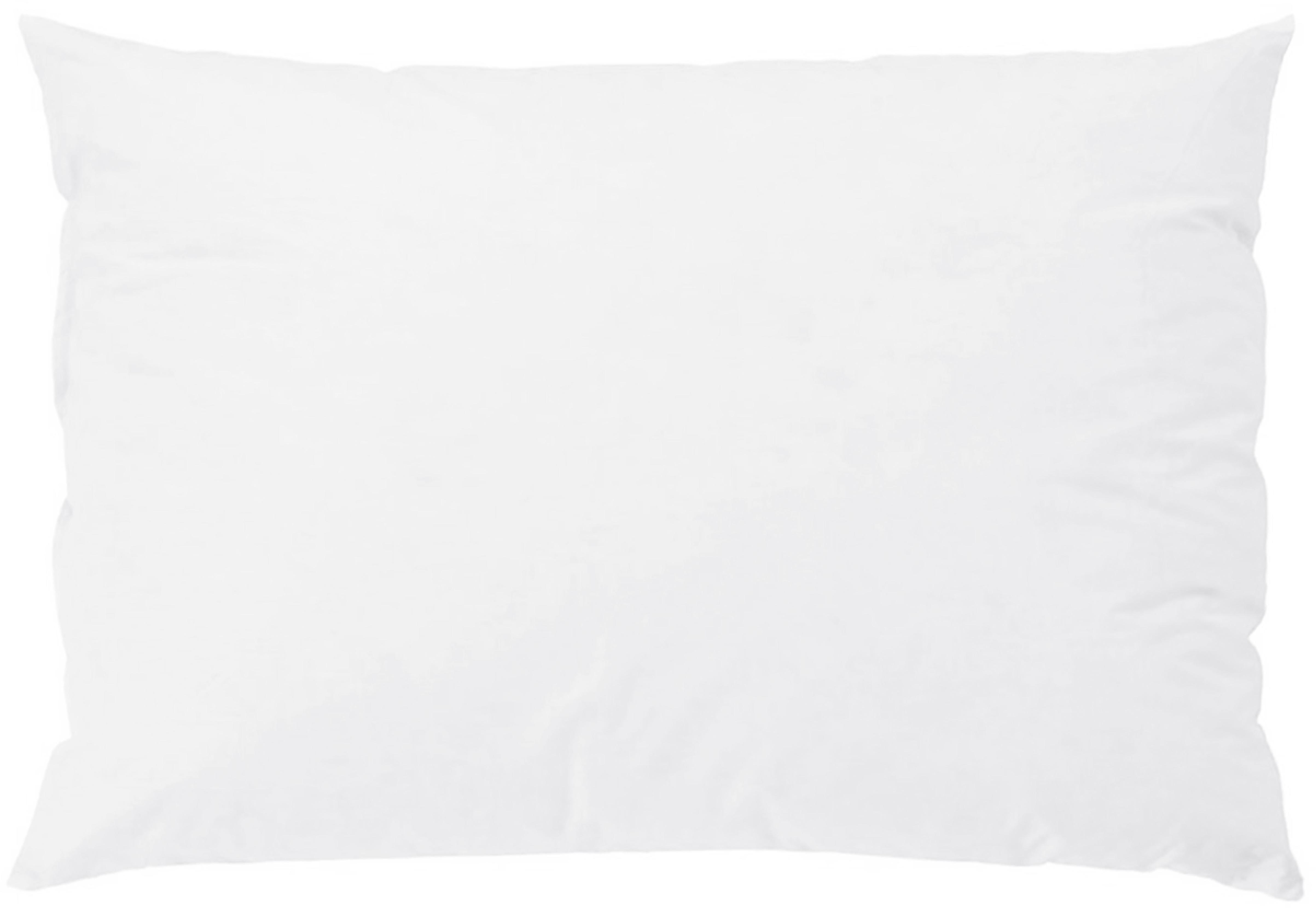 Relleno de cojín Komfort, 40x60, Funda: percal Mako, 100%algodón, Blanco, An 40 x L 60 cm