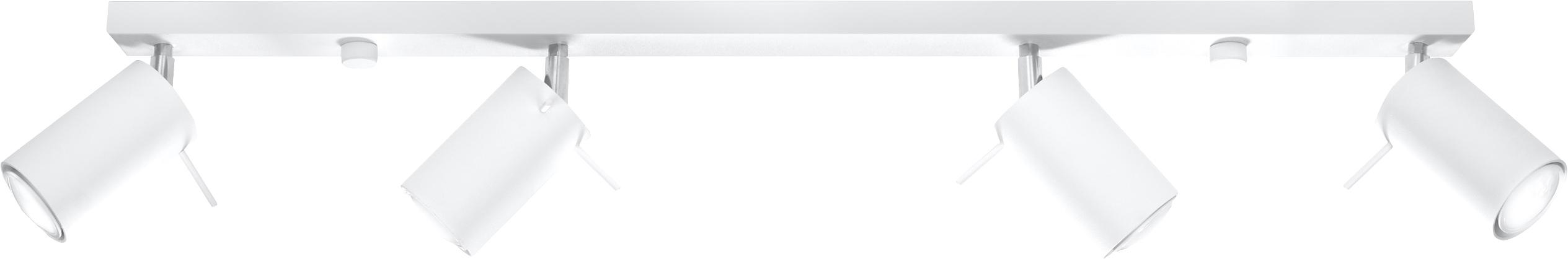 Faretti da soffitto bianchi Etna, Acciaio verniciato, Bianco, Larg. 81 x Alt. 16 cm