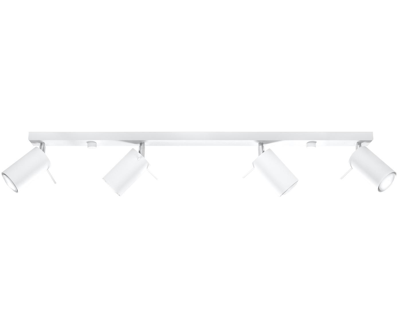 Deckenstrahler Etna in Weiss, Stahl, lackiert, Weiss, 81 x 16 cm
