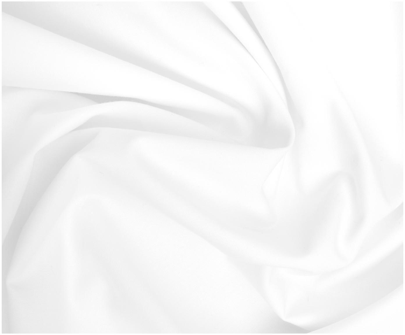Pościel z perkalu Elsie, Biały, 135 x 200 cm