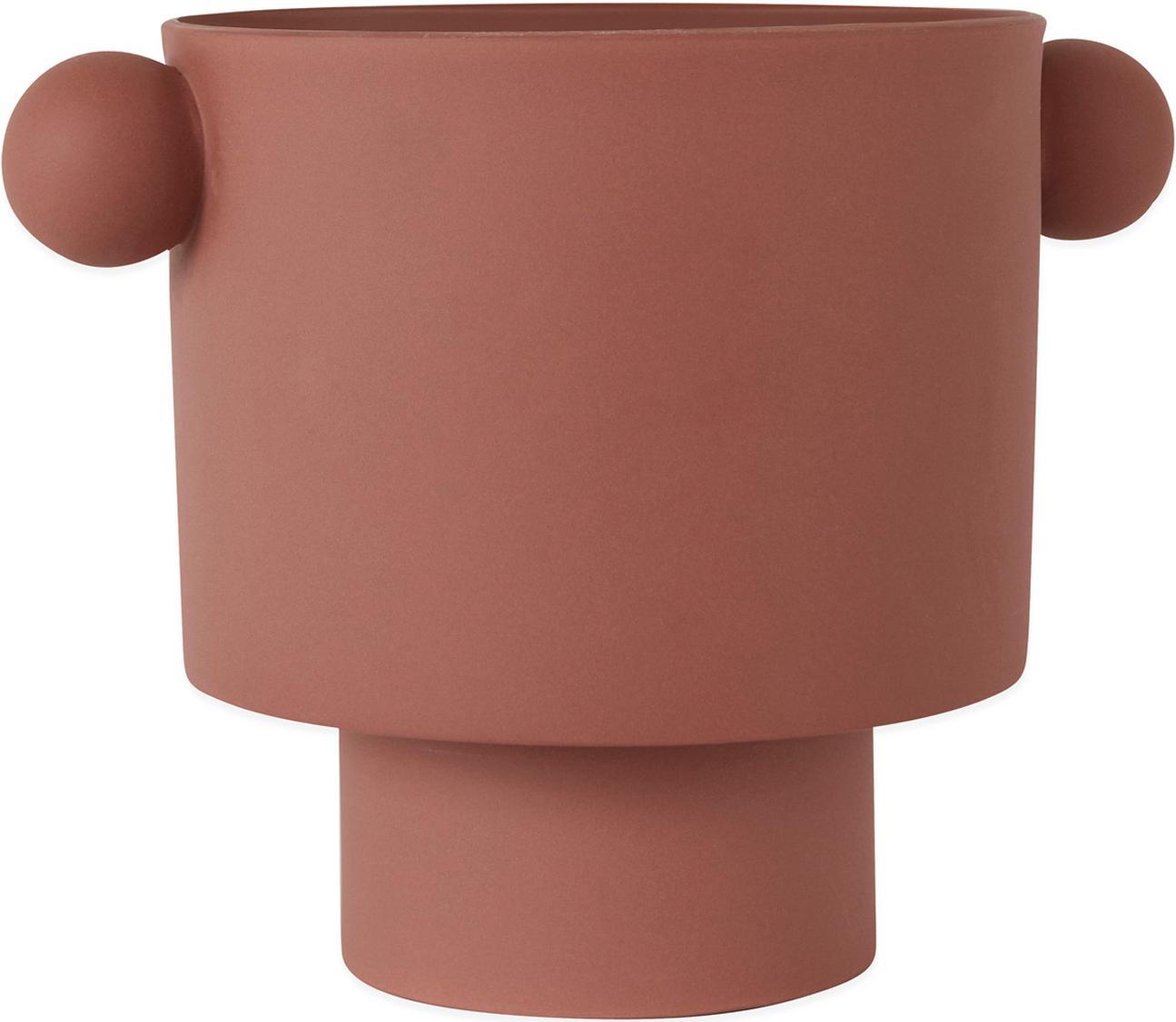 Großer handgefertigter Übertopf Ika aus Keramik, Keramik, Terrakotta, Ø 30 x H 23 cm