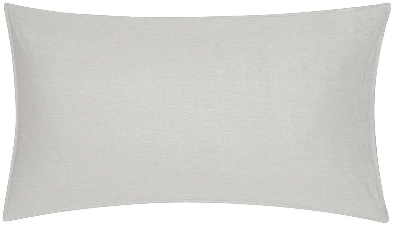 Gewaschene Baumwoll-Kissenbezüge Arlene in Hellgrau-Beige, 2 Stück, Webart: Renforcé Fadendichte 144 , Hellgrau-Beige, 40 x 80 cm