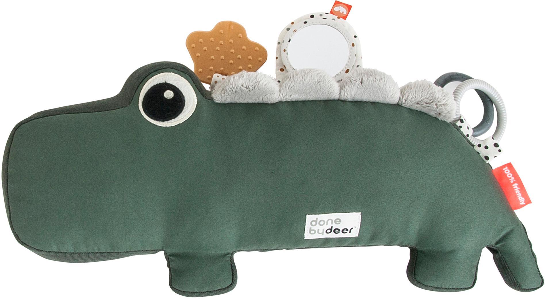 Zabawka Tummy Time Croco, Tapicerka: 50% bawełna, 50% polieste, Zielony, S 41 x W 18 cm