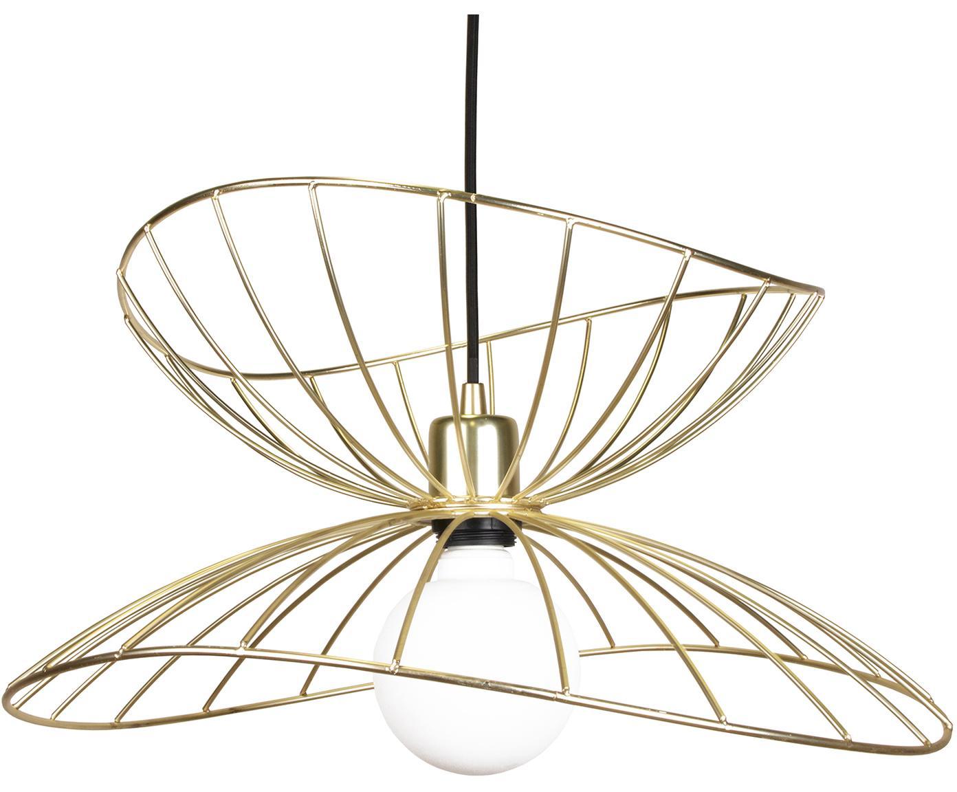 Lampada a sospensione Ray, Metallo, Ottonato spazzolato, Ø 45 x Alt. 25 cm