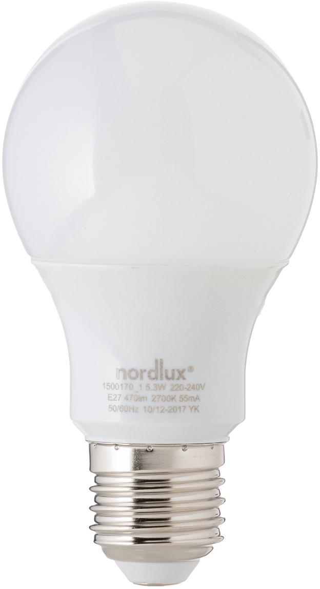 LED lamp Morning (E27 / 5W), Peertje: opaalglas, Fitting: aluminium, Wit, Ø 7 x H 11 cm