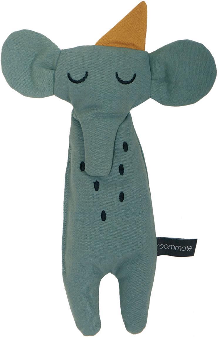 Przytulanka z bawełny organicznej  Elephant, Szarozielony, S 8 x W 30 cm
