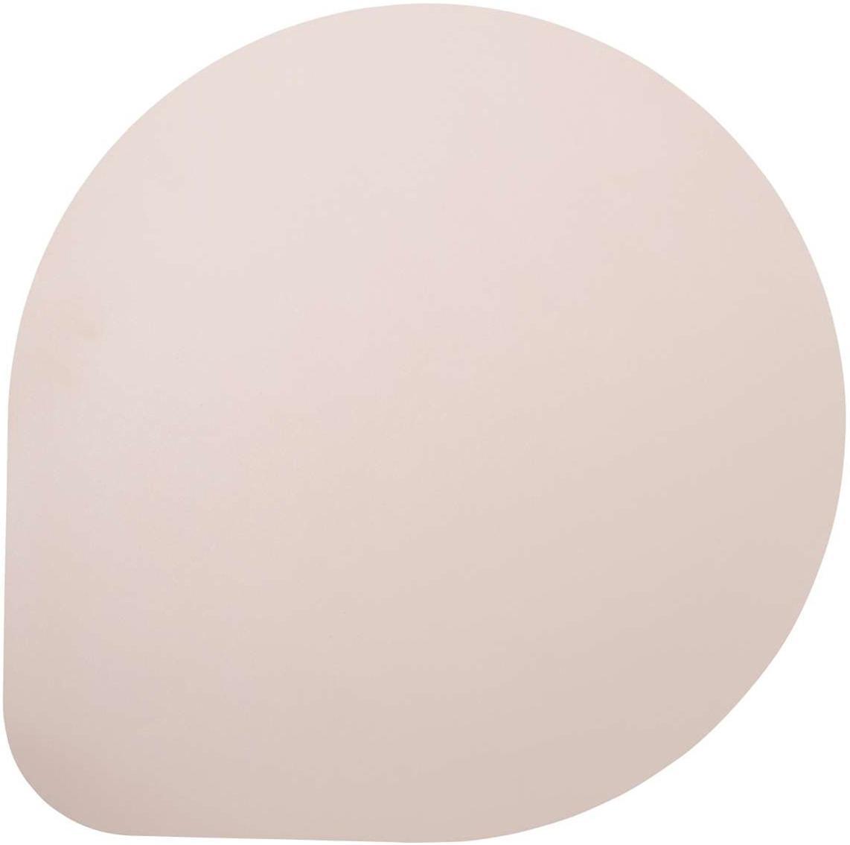 Kunststoffen onderzetters Povac in leerlook, 2 stuks, Kunststof (PVC), Roze, Ø 37 cm