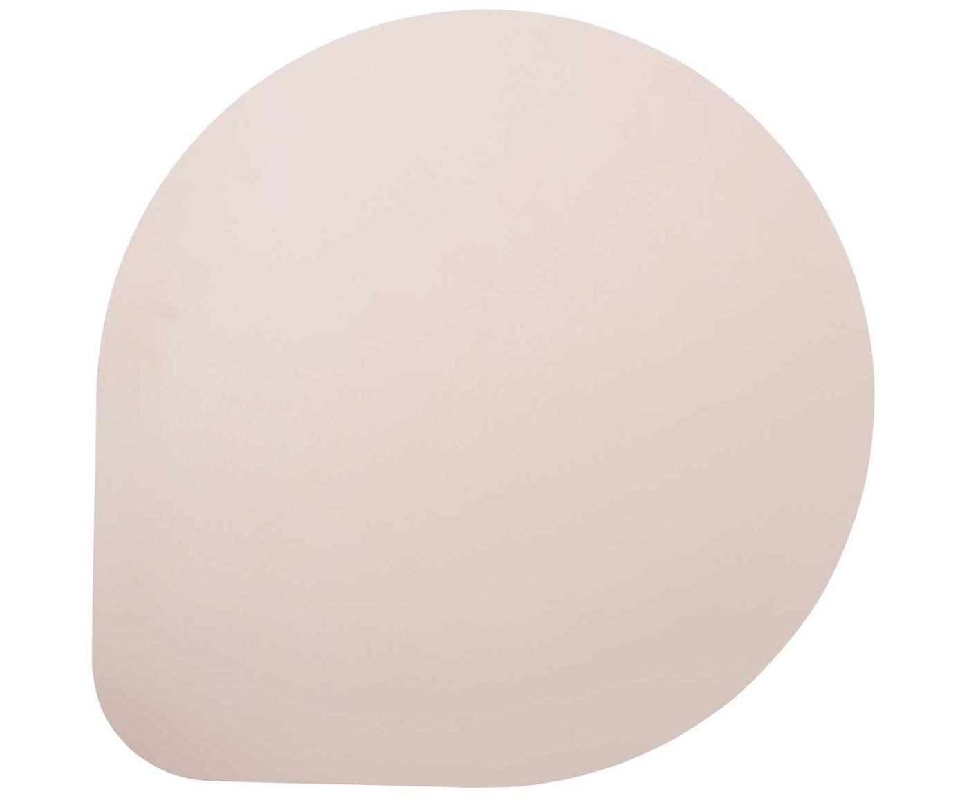 Manteles individuales de cuero sintético Povac, 2uds., Plástico (PVC), Rosa, An 37x L 37 cm