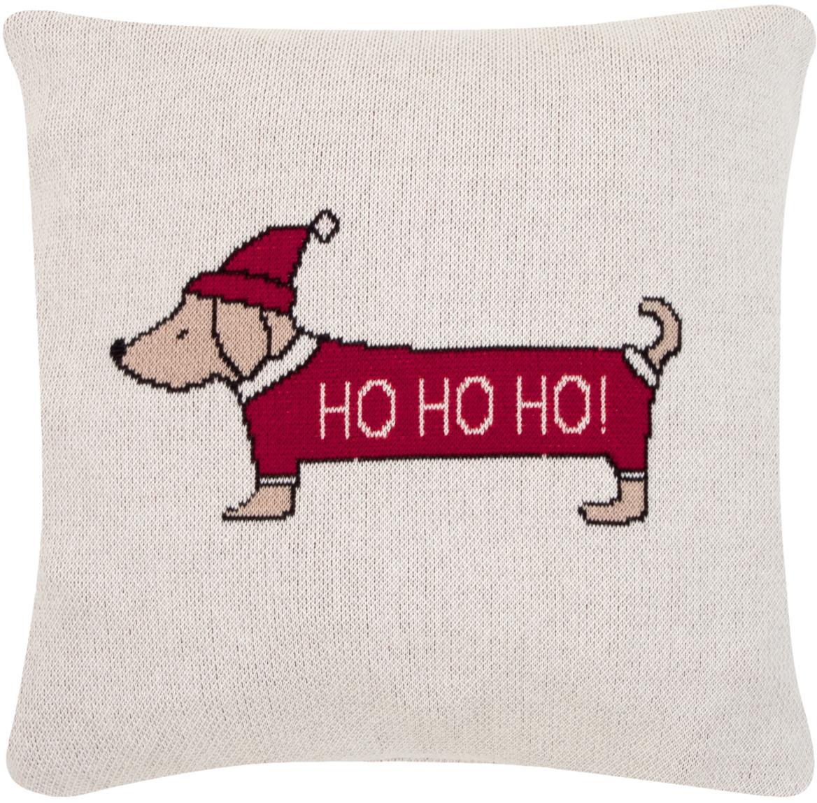 Kissenhülle Santas Little Helper mit weihnachtlichem Motiv, Baumwolle, Mehrfarbig, 40 x 40 cm