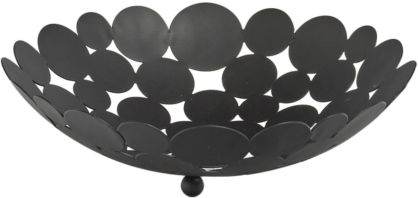 Opbergschaal Drops, Metaal, Zwart, Ø 29 x H 9 cm