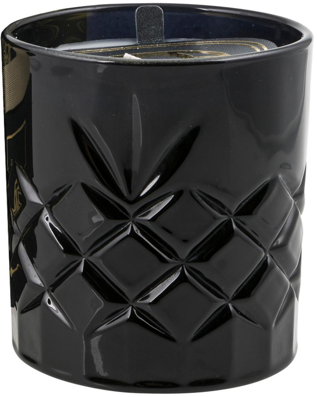 Duftkerze Bokeo (Lilie, Rose & Orangenblüte), Behälter: Glas, Schwarz, Goldfarben, Ø 11 x H 10 cm