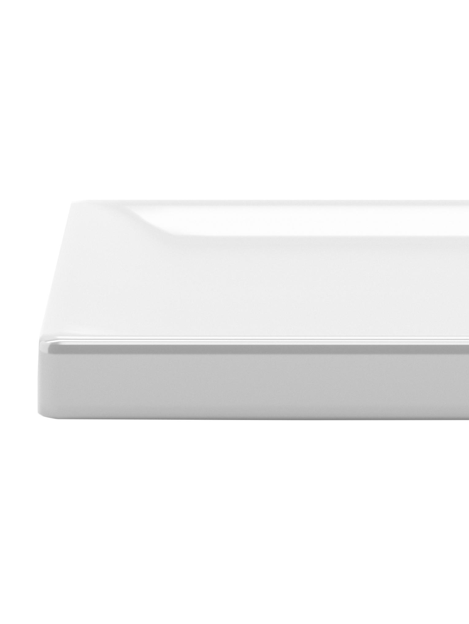 Schmuckhalter Trigem, Gestell: Metall, vernickelt, Fuß: Metall, lackiert, Nickel, Weiß, 23 x 48 cm