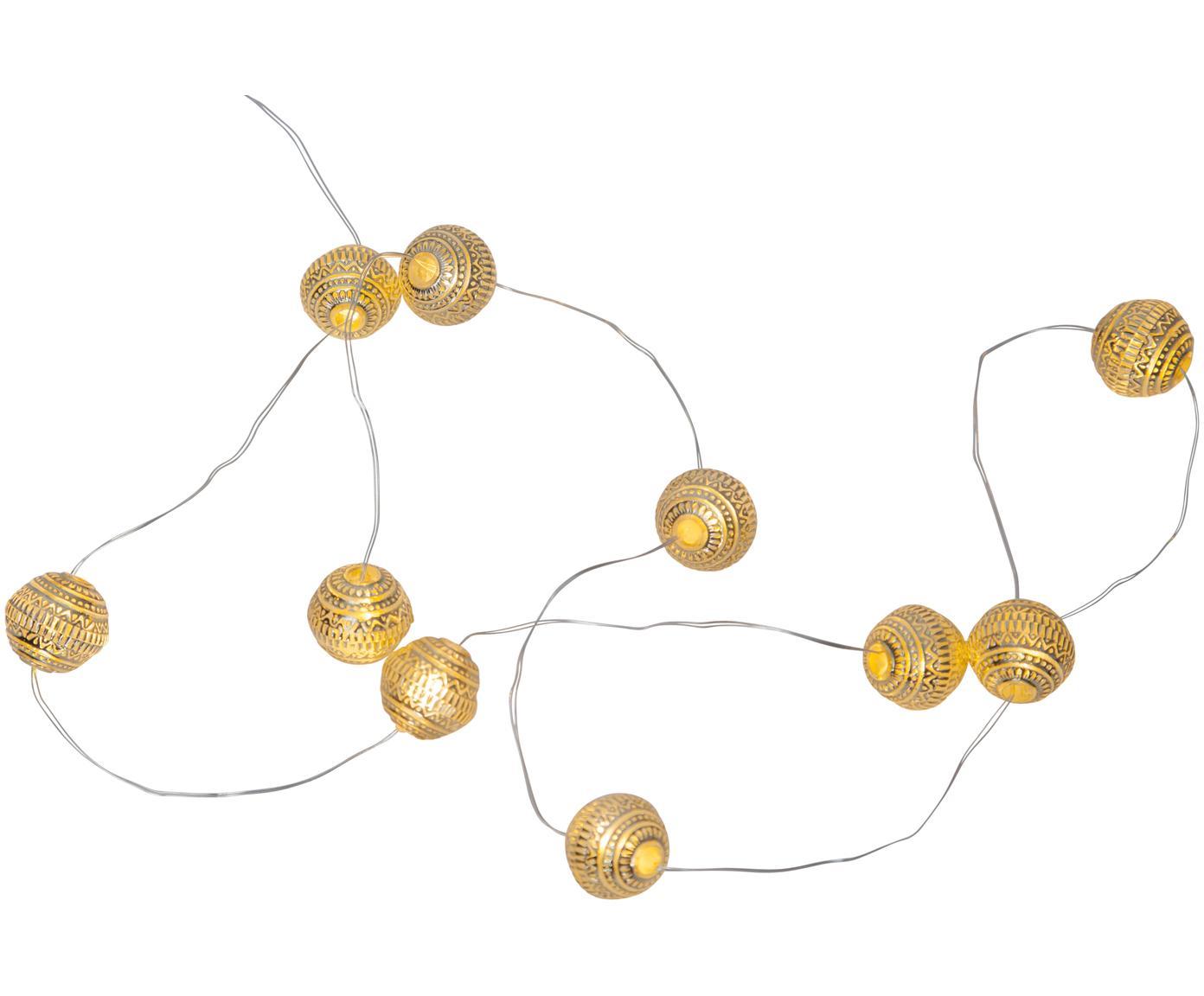 Girlanda świetlna LED Beads, 120 cm, Odcienie złotego, D 90 cm