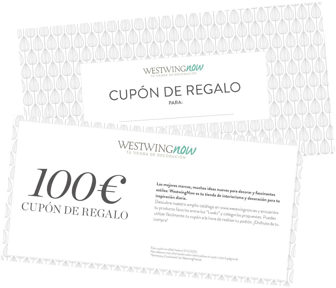 Cupón regalo, Cupón regalo impreso en papel fino dentro en un sobre de alta calidad, Blanco, 100