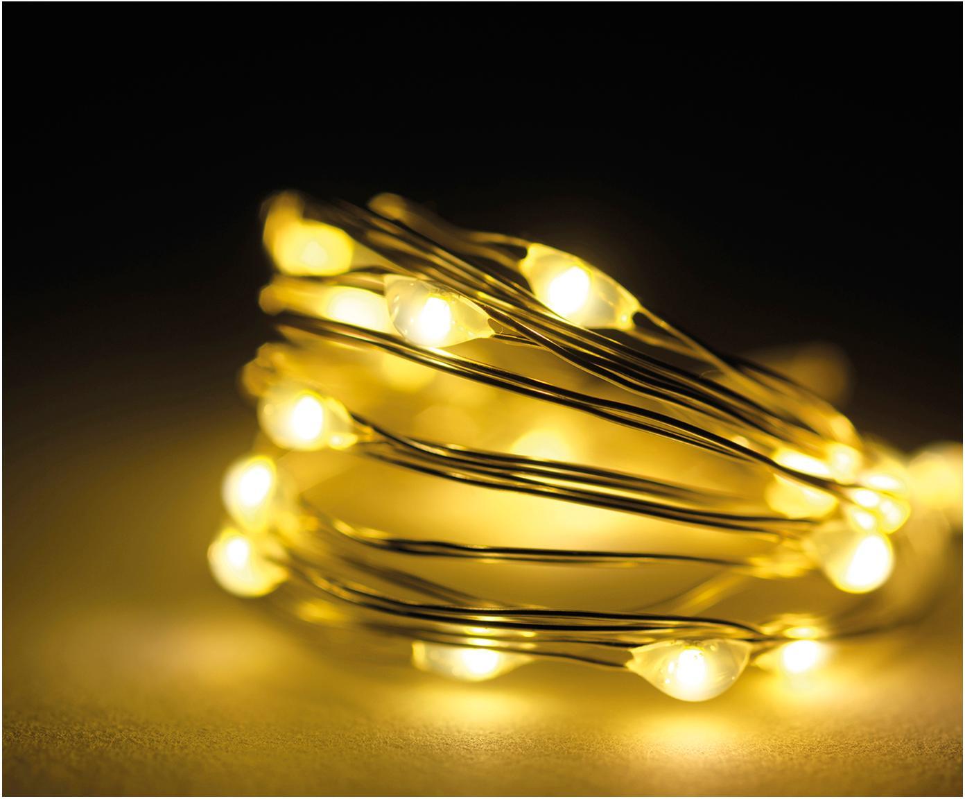 LED Lichterkette Wiry, L 195 cm, Kunststoff, Transparent, L 195  cm