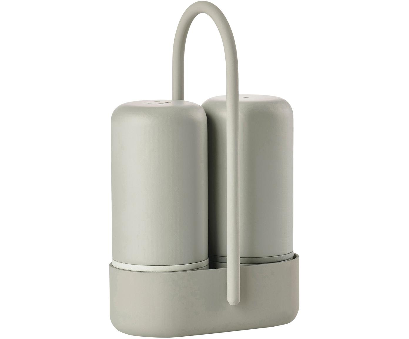 Salero y pimentero Henk, 2pzas., Plástico (ABS), metal, Greige, An 7 x F 3 cm