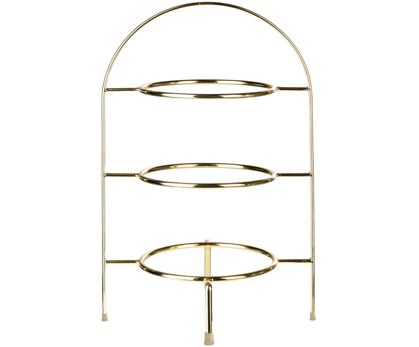 Fuente 3 pisos Oco, Metal recubierto, Asiento: borgoña patas: madera de haya, Ø 21 x Al 37 cm