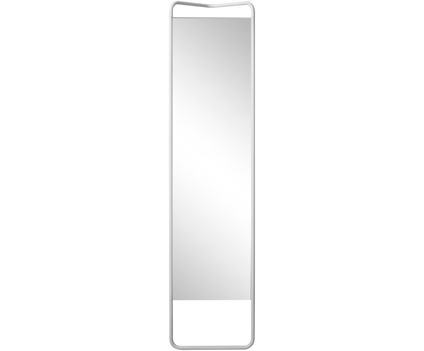 Kwadratowe lustro stojące Kasch, Biały, S 42 x W 175 cm