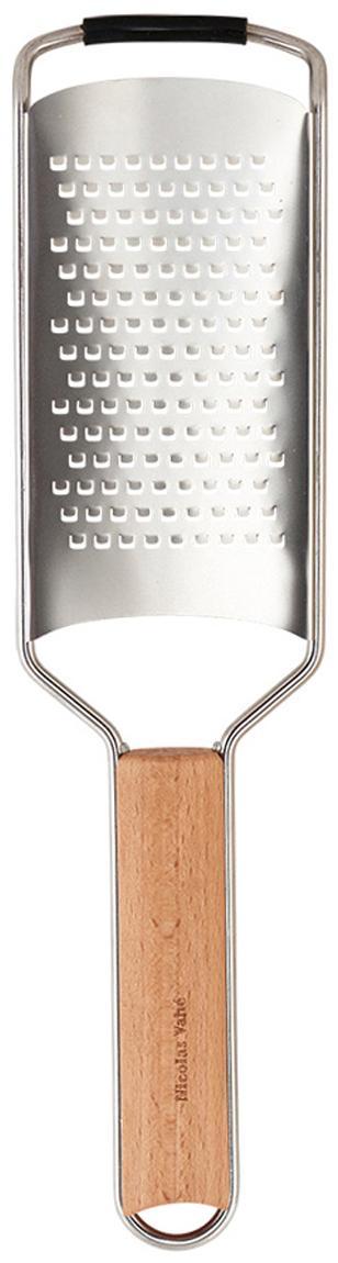 Grattugia in acciaio inossidabile e legno di faggio Fina, Manico: legno di faggio, Legno di faggio, acciaio inossidabile, Lung. 31 cm