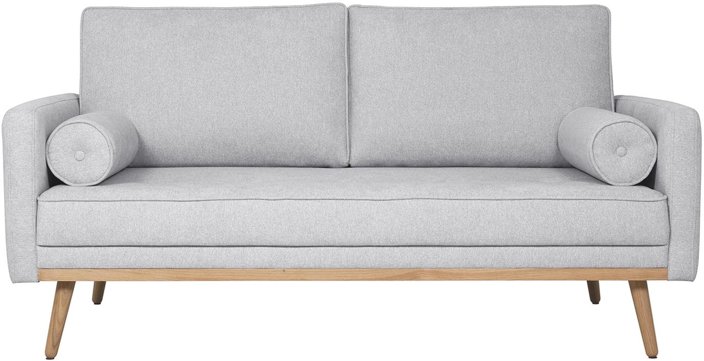 Sofa Saint (2-Sitzer), Bezug: Polyester Der hochwertige, Gestell: Massives Kiefernholz, Spa, Webstoff Hellgrau, B 169 x T 93 cm