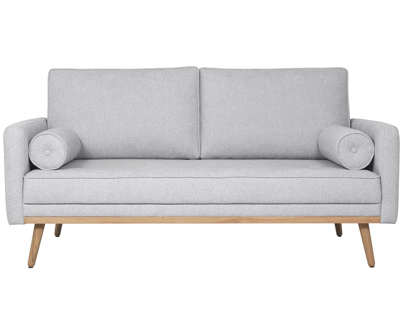 Bank Saint (2-zits), Bekleding: polyester, Frame: massief grenenhout, spaan, Lichtgrijs, B 169 x D 93 cm