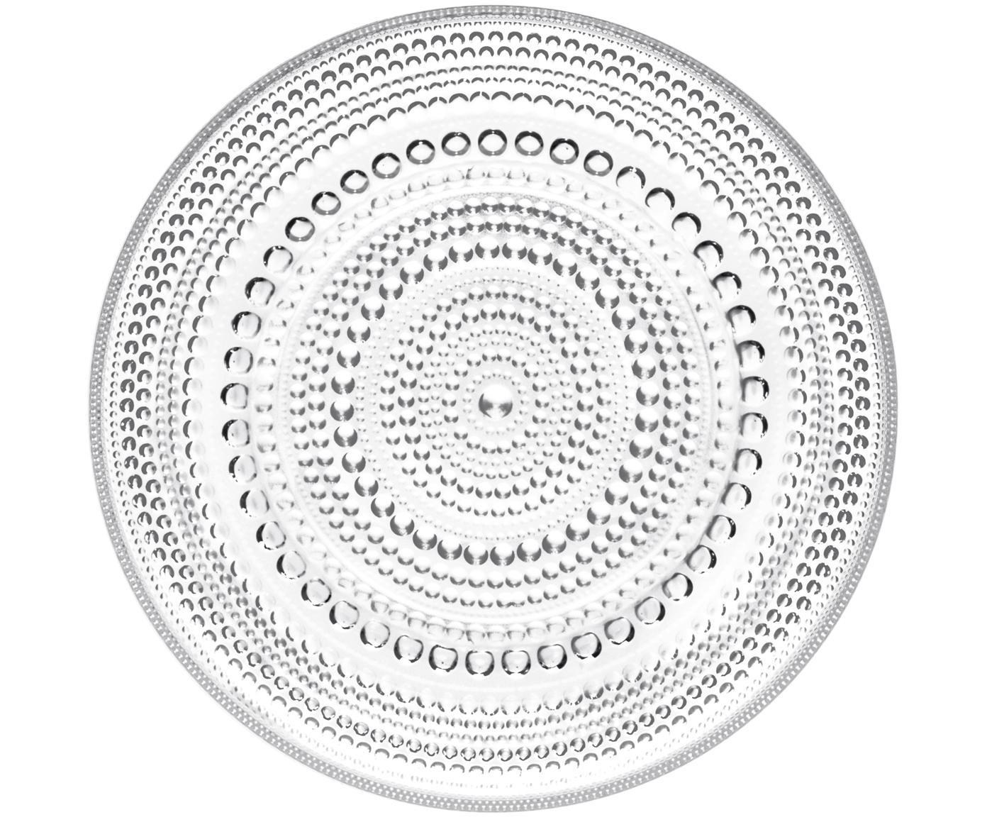 Plato de pan Kastehelmi, Vidrio, Transparente, Ø 17 cm