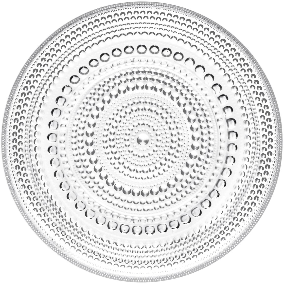 Talerz Kastehelmi, Szkło, Transparentny, Ø 17 cm
