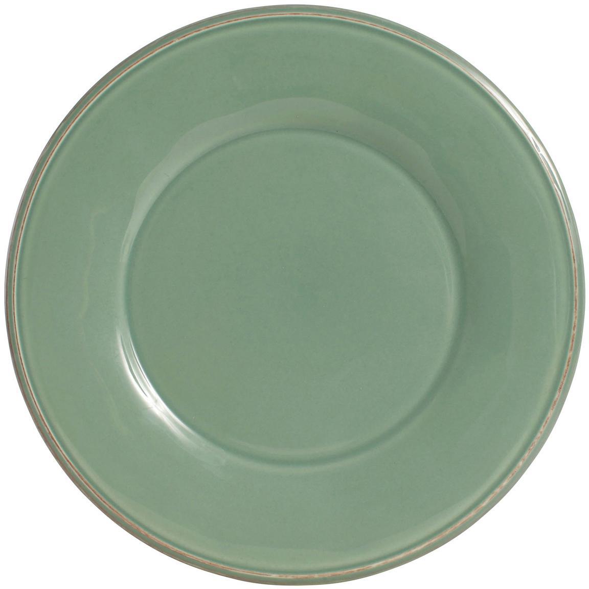 Talerz duży Constance, 2 szt., Kamionka, Szałwiowy zielony, Ø 29 cm