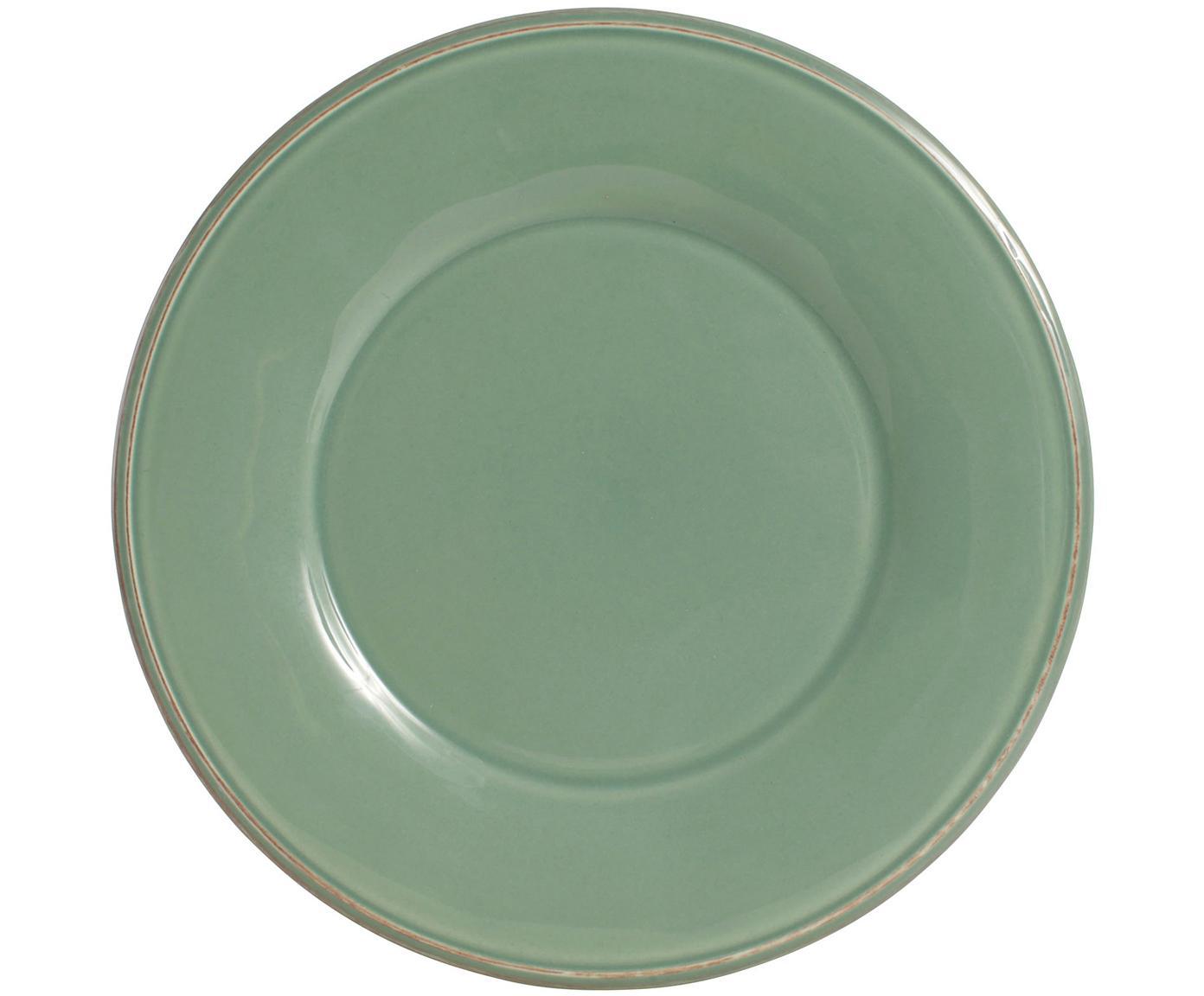 Piatto piano in verde salvia Constance 2 pz, Ceramica, Verde salvia, Ø 29 cm
