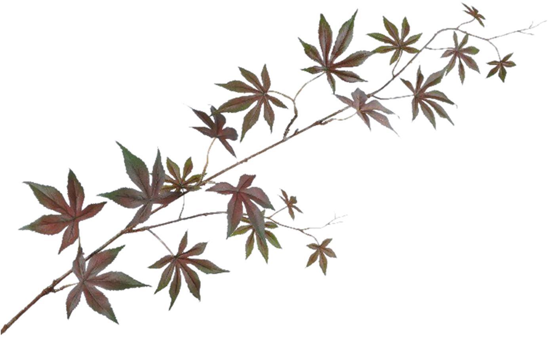 Flor artificial acer Allie, Poliéster, PCV, metal, Marrón, verde, L 114 cm