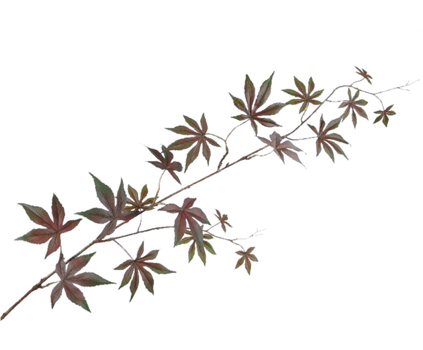Kunstblume Ahorn, Polyester, PCV, Metall, Braun, Grün, L 114 cm