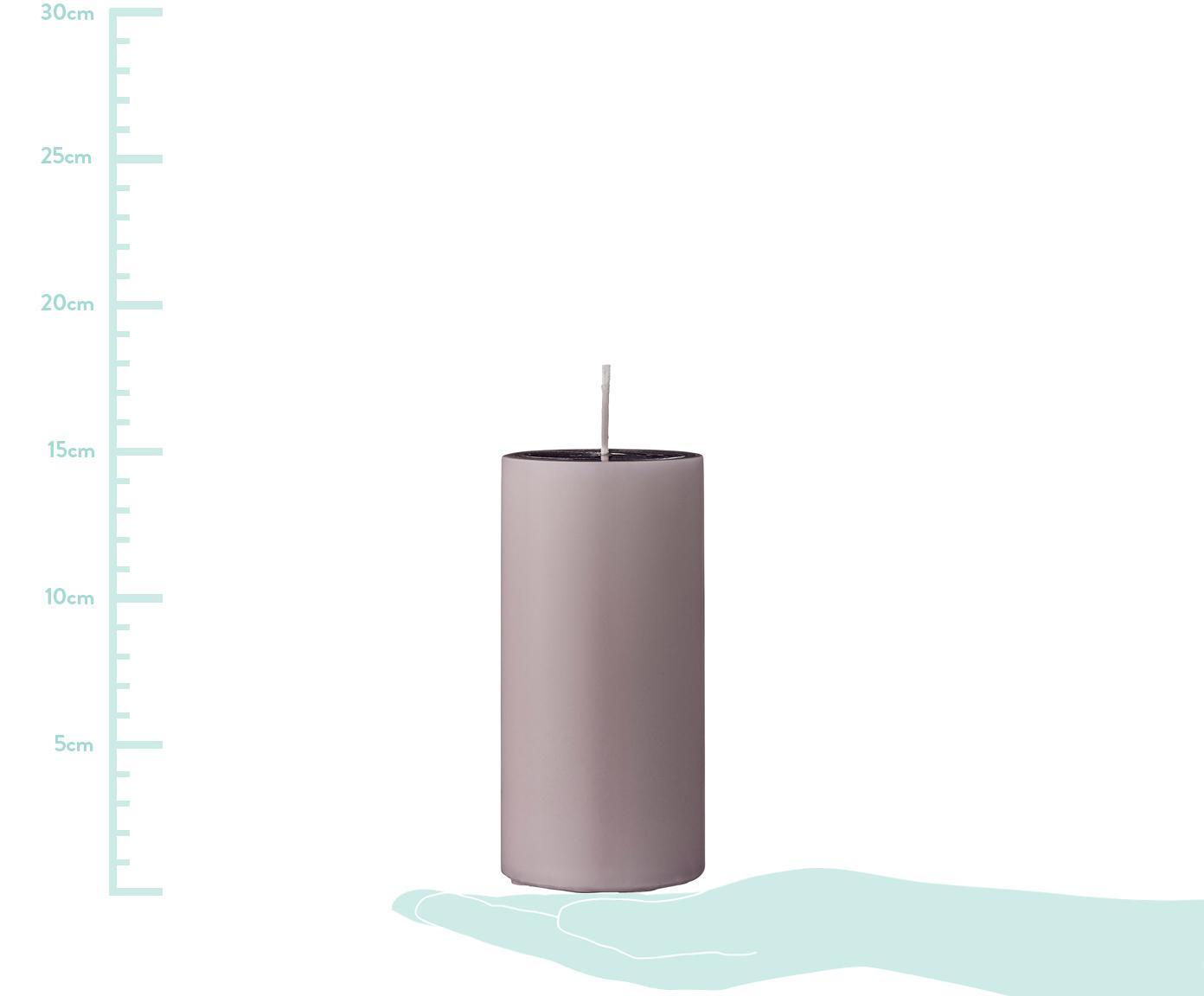 Vilas pilar Lulu, 2uds., Cera, Rosa, Ø 7 x Al 15 cm