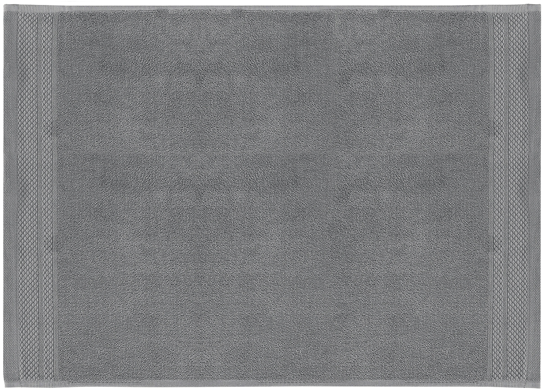Alfombrilla de baño Premium, antideslizante, 100%algodón Gramaje superior 600g/m², Gris oscuro, An 50 x L 70 cm