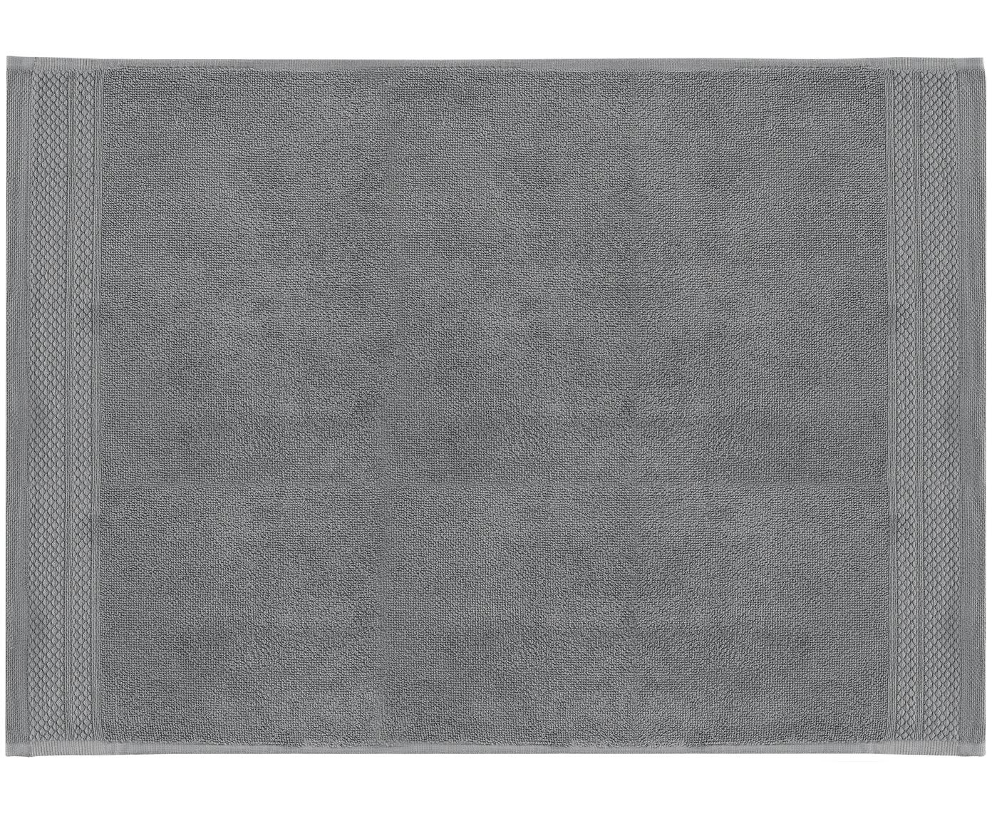Badmat Premium, 100% katoen, zware kwaliteit, 600 g/m², Donkergrijs, 50 x 70 cm