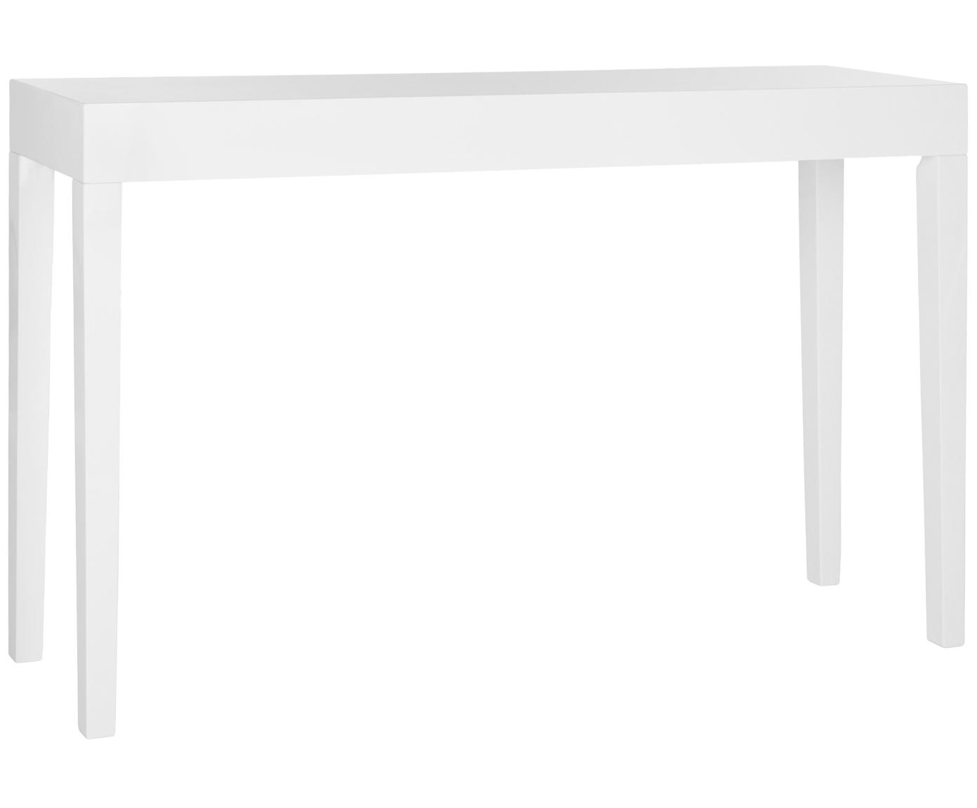 Consola artesanal Kayson, Tablero de fibras de densidad media(MDF), Blanco, An 130 x F 34 cm
